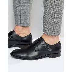 ALDO Melfort Leather Strap Monk Shoes ($70) ❤ liked on Polyvore featuring men's fashion, men's shoes, men's dress shoes, black, mens woven leather slip-on shoes, mens black shoes, aldo mens shoes, mens leather shoes and mens black dress shoes