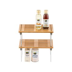Small Bamboo Stacking Shelf | The Container Store