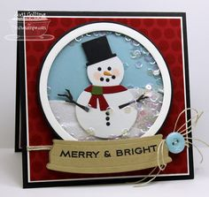 Learn to Create a Snow Globe | http://www.mftstamps.com/blog/learn-to-create-a-snow-globe/