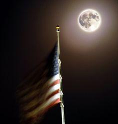 Full Moon and American Flag by ~houstonryan on deviantART
