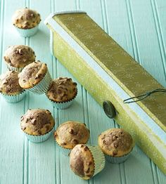 Gift wrap aluminum foil boxes with pretty paper and fill with mini-muffins for a special food gift.