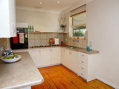 Brightening up a dated kitchen. Happy Valley.