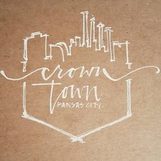 Kansas City - Crown Town - Skyline Print - Perfect for a gallery wall, or last minute gift! - 9 wide by 12 tall - Each print is hand-lettered with India Ink on 20lb Kraft paper - Prints are shipped in stiff photo mailer for protection in transit  Because of the custom nature of these prints, each will have their own hand-crafted quality  Thank you for checking out my shop! I hope you find something you love