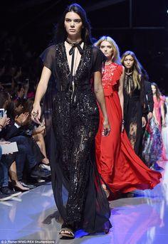 Kendall walking for Elie Saab