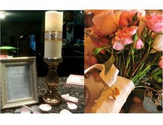 Memory candle and poem.  Great idea to have your loved ones who have passed still be included in your big day.