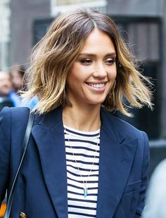 Jessica Alba and Kate Bosworth's bobs show how cool loose, natural texture looks on short styles, with flyaways in full effect.