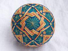"Jamboree | 3"" diameter, teal sewing thread, yellow, orange, … | Flickr"