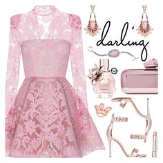 """""""Darling"""" by deborah-calton ❤ liked on Polyvore featuring Gianvito Rossi, Alex Perry, Jimmy Choo, Viktor & Rolf, Stephen Webster and By Terry"""