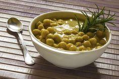 Sopa de lentilha e grão de bico