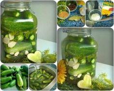 Eingemachtes:  Salzgurken, im Einmachglas