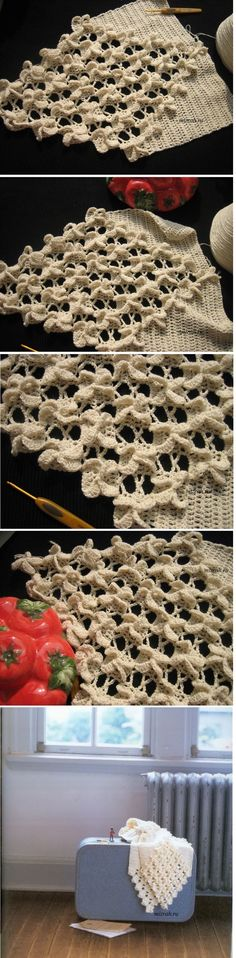 Discover thousands of images about Volumetric pattern crochet. Discussion on LiveInternet - Russian Service Online Diaries Crochet Edging Patterns, Crochet Motifs, Crochet Shawl, Crochet Designs, Crochet Lace, Knitting Patterns, Crochet Beanie, Crochet Crafts, Crochet Projects