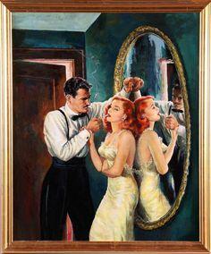 Romance Comics, Pulps, Sexy Art, and Beautiful Women Romance Art, Vintage Romance, Vintage Art, Photo Romance, Pin Up Retro, Retro Art, Pulp Fiction Art, Pulp Art, Comics Vintage