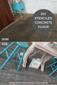 Use left over furniture paint to paint my stool! Great idea!