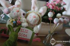 Mesa decorada para páscoa por Patricia Junqueira {Home, Receber & Baby} com elegância e sofisticação para Receber Bem