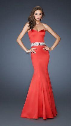 Long Sweetheart Dress By La Femme 18460 Sexy Dresses Fast Shipping