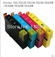 8 INK 128 T1281-T1284 compatible ink cartridge for EPSON  Stylus S22/SX125/SX130/SX230/SX235W/SX420W/SX425W/SX430W printer