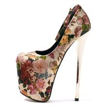 Super High Heels Women Pumps Plus Size Round Toe Leather Printed Women  Pumps Women Wedding Shoes 8216a208cad