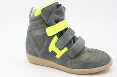 Hip Fashion sneaker with Yellow Neon Details By Warmer $160.00