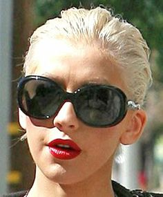 Christina Aguilera wearing Prada Sunglasses