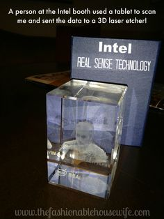real sense technology 3d #inteltablet #intel #CES2015 A person at the Intel booth used a tablet to scan me and sent the data to a 3D laser etcher.