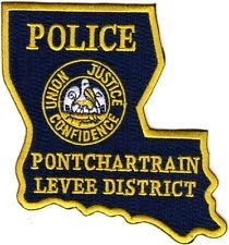 Pontchartrain Levee District Police Patch Louisiana