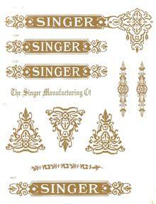 Singer 15 Class Decals for Restorations Celtic Variation SingerDecals.com