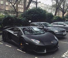 Lamborghini aventador all black