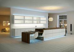 Hyvin suunnitteltu keittiön valaistus lisää tilan viihtyisyyttä ja korostaa pintoja. Lue Meidän Talon juttu keittiön valaistuksen suunnittelusta.