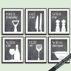 Kitchen Quotes, Kitchen Humor, Funny Kitchen, Bathroom Vinyl, Kitchen Artwork, Farm House Colors, Diy Signs, Funny Signs, Silhouette Cameo Projects