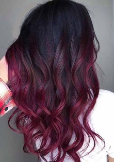 7 Hottest Hair Color Trends For 2019 : New Hair Color Ideas - red hair - hair Hot Hair Colors, Red Hair Color, Cool Hair Color, Black Cherry Hair Color, On Trend Hair Colour, Blonde Color, Red Ombre Hair Color, Red Hombre Hair, Hair Color Ideas For Dark Hair
