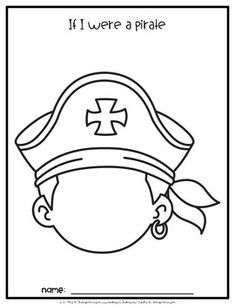 Pirate Blank Face Self-Portraits Summer Crafts For Toddlers, Summer Camp Crafts, Camping Crafts, Pirate Preschool, Pirate Activities, Preschool Crafts, Pirate Birthday, Pirate Theme, Pirate Hat Crafts