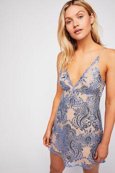 Night Shimmers Mini Dress | Free People