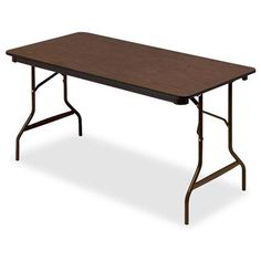 Iceberg Economy Wood Laminate Folding Table TABLE,30X60,FOLDING,WA AFF20LCR (Pack of2)