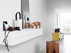 Drawers on a row – for the hall or the living room. #montanafurniture #white #nordicinterior #storage