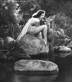 Pier Angeli. Photograph by Allan Grant. California, June 1954.