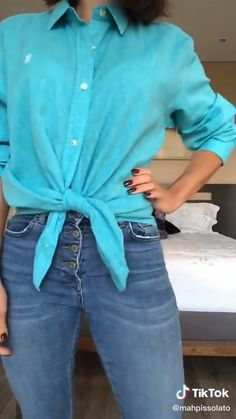 Mode Outfits, Fall Outfits, Casual Outfits, Long Shirt Outfits, Fashion Outfits, Diy Clothes Life Hacks, Clothing Hacks, Diy Fashion Hacks, Diy Fashion Projects