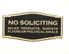 Wood No Soliciting Sign by raaa100 on Etsy