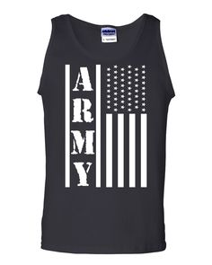 a8bafefe364f4 Army Flag Military Tank Top Patriot Veteran Stars & Stripes Honor Sleeveless