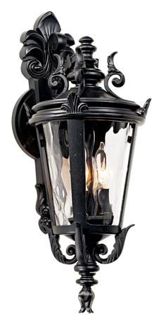 Casa Marseille Traditional Outdoor Wall Light Fixture Textured Black French 21 Clear Hammered Glass for Exterior House Porch - John Timberland Outdoor Wall Light Fixtures, Outdoor Wall Sconce, Outdoor Wall Lighting, Outdoor Walls, Black Outdoor Wall Lights, House Lamp, Vintage Wall Sconces, Goth Home Decor, Vintage Lanterns