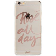 SONIX Rose All Day iPhone 6 Case (22 CAD) ❤ liked on Polyvore featuring accessories, tech accessories, phone cases, phone and rose gold