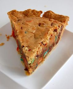 s and half Peanut Butter M&M's. You can use whatever pie crust you want. You can even use a store bought one…I wont judge.  This is about as simple as you can get. You could throw in just about anything you wanted in this would be my guess and it would be tasty. Well, almost