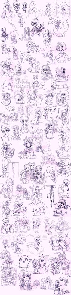 Super OC sketch dump 2 by *Pyromaniac on deviantART