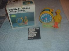 Working Sesame Street Big Bird Bradley Talking Alarm Clock w/Original Box.