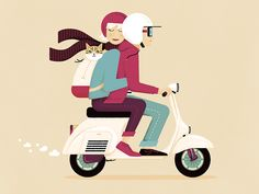 A couple a cat a Vespa: This design was a poster for two very lovely people and their cat :) Vespa Vbb, Lambretta, Cute Couple Art, Anime Love Couple, Skeleton Drawings, Cute Drawings, Vespa Motor Scooters, Vespa Illustration, New Vespa