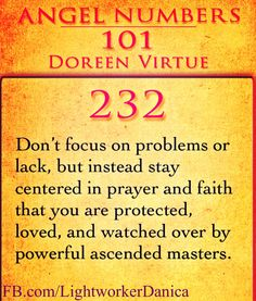 Don't focus on problems or lack, but instead stay centered in prayer and faith that you are protected, loved, and watched over by powerful ascended masters.
