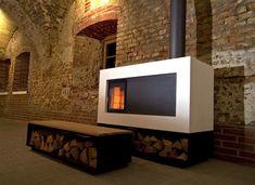 Schmeiß mal den Betonofen an Stove Fireplace, Townhouse, Concrete, Art Deco, Contemporary, Wood, Stoves, Fireplaces, Home Decor