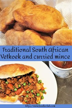 Vetkoek and curried mince. Delicious curried beef mince served inside a traditional vetkoek. A great alternative to the normal curry and rice. Best Curry, Hottest Curry, Mince Recipes, Vegetarian Recipes, Yummy Recipes, Curry Mince Recipe, South African Recipes, South African Food, Chicken And Mushroom Pie