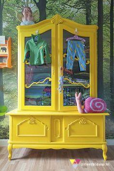 Bright yellow wardrobe