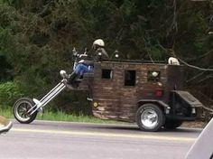 Custom motorcycle trike / chopper RV camper. Louisville Kentucky
