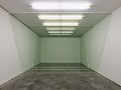 Three Sections, floor wax and paint on wall installation view, White Cube, London, England. by Marcius Galan Floor Wax, Wood Floor, Minimal Photography, Wall Installation, Art Installations, Conceptual Design, Space Gallery, Land Art, Art And Architecture